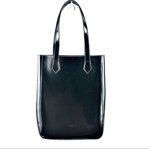 Givenchy Large Black Gloss Faux Leather Tote